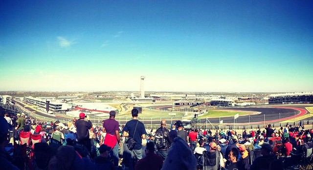 The view from COTA Turn 1