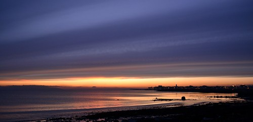 ireland sunset galway colorful