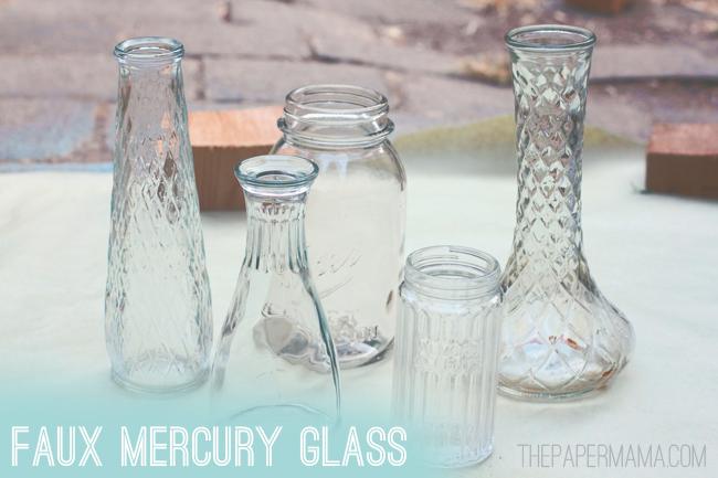 faux mercury glass vases. Black Bedroom Furniture Sets. Home Design Ideas