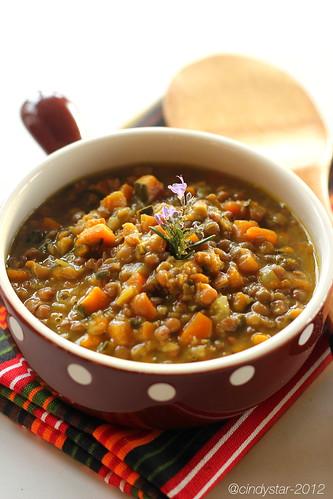 zuppa lenticchie zucca curry
