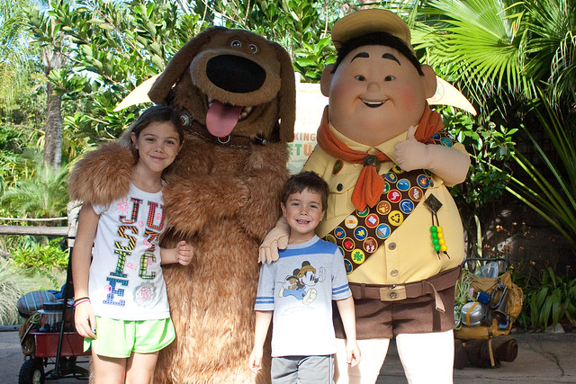 "Disney's Animal Kingdom Russell and Dug from ""Up"""