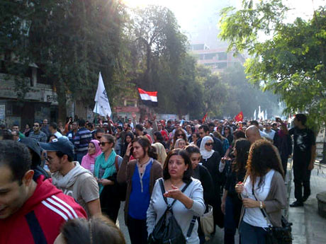 Hundreds of thousands of Egyptians demonstrated on November 30, 2012 against the imposition of a draft constitution taking more power for the Muslim Brotherhood government. The protests have occured everyday for the last week. by Pan-African News Wire File Photos