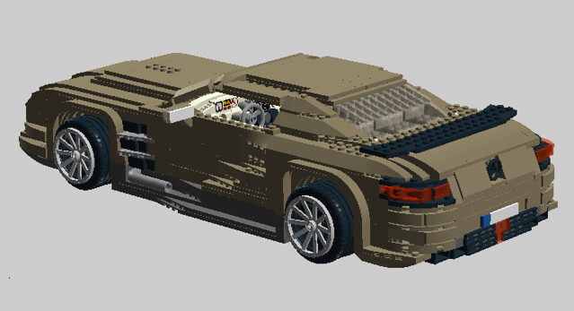 starfighter93 39 s lego mercedes sls amg flickr photo. Black Bedroom Furniture Sets. Home Design Ideas