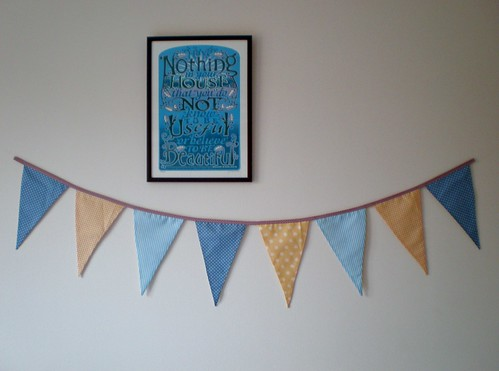 Blue and Yellow Bunting