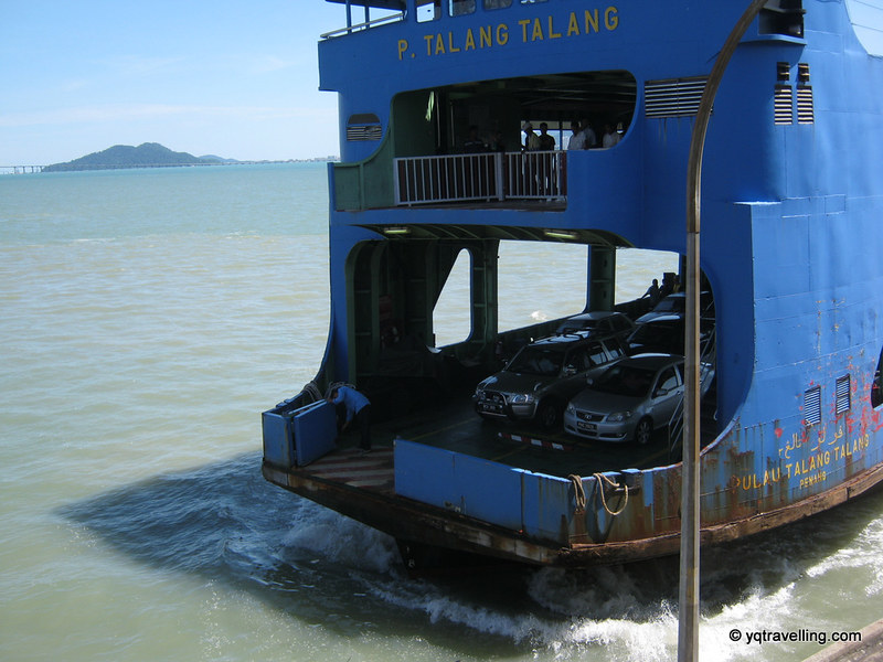 Ferry and cars