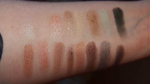 pixi eyeshadow swatch