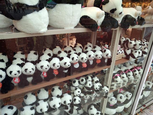 土産物屋のパンダ