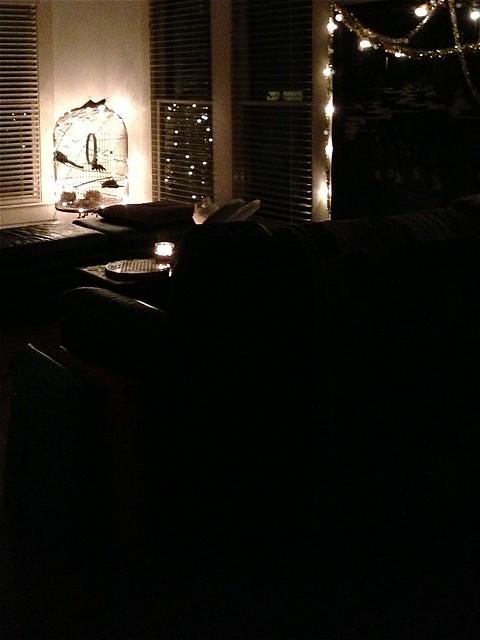 living room lit