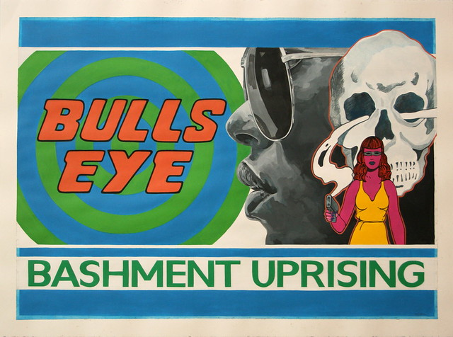 Bashment Uprising, acrylic on paper, 70cm x 50cm