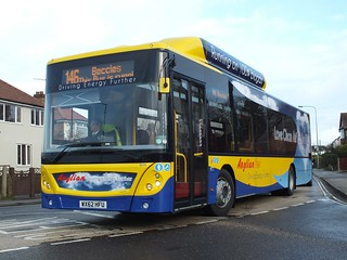Anglianbus MAN EcoCity 606 WX62HFU @ Carlton Road Lowestoft 3-12-12 [ (c) Grahame Bessey ]