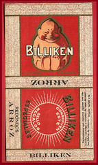 Billiken brand tobacco from pre-Castro Cuba.
