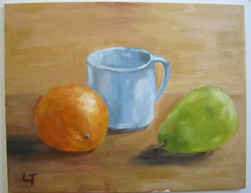 40 Orange Pear Mug by luv2draw