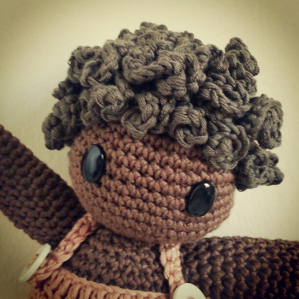 Hair On Amigurumi : Amigurumi doll hair tutorial #amigurumiscrochet # ...