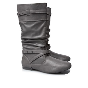Studded Ruched Boots for Girls
