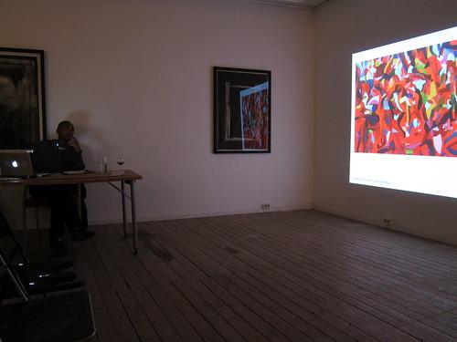 Herman Mbamba presenting