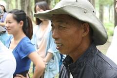 林北水參與台灣環團交流活動的專注神情