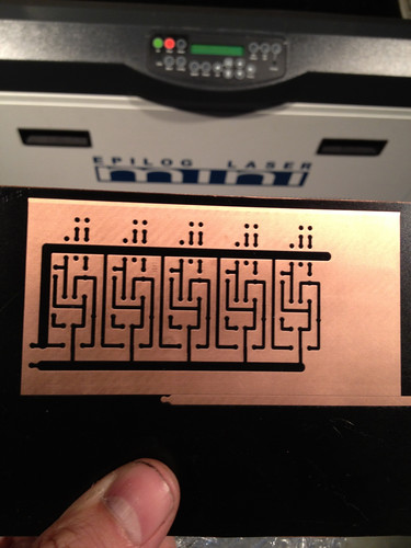 Another example of etching a mask for printed circuit board etching