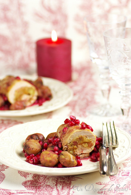 Stuffed turkey - Dinde farcie aux marrons