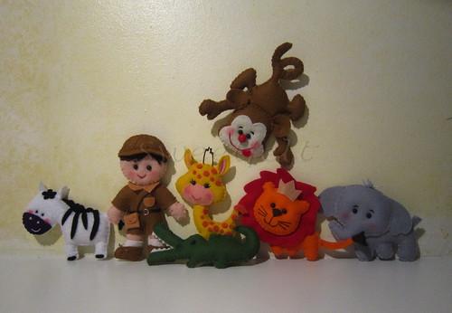 ♥♥♥ Este é o meu safari... by sweetfelt \ ideias em feltro