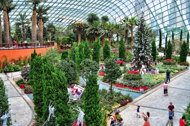 Christmas tree at Gardens by the Bay, Singapore
