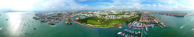 360° x 120° Panorama View of West Coast, Singapore