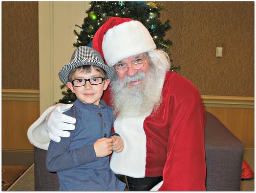 Evan and Santa 2012
