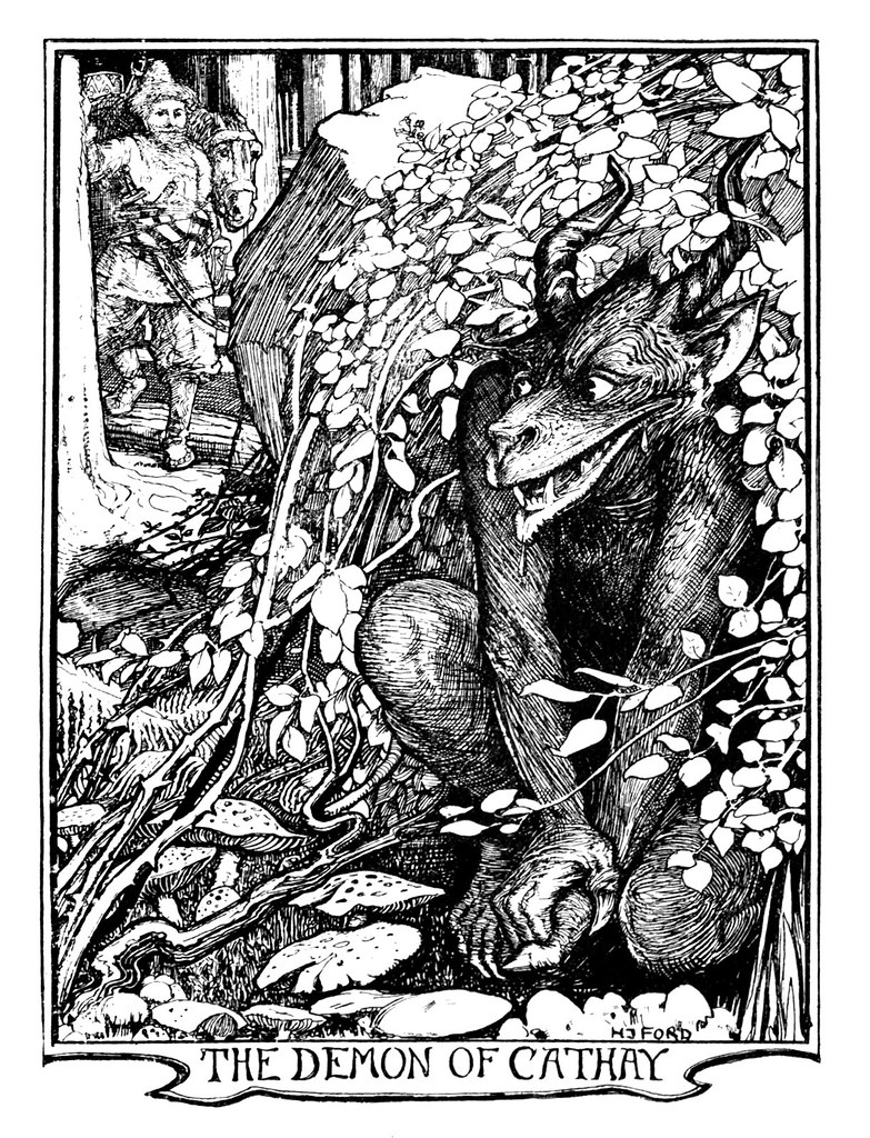 Henry Justice Ford - The red book of animal stories selected and edited by Andrew Lang, 1899 (illustration 2)