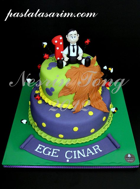 1st birthday cake - ege çınar (Medium)