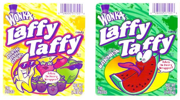 2006 Wonka Laffy Taffy Candy Jar Display Stickers Assorted