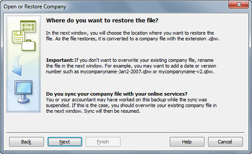 step 4 - open or restore quickbooks for landlords