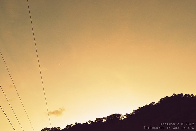 Sunset view along Kennon Road in Baguio City.