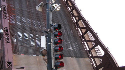 The East 95th Street drawbridge opened.  Chicago Illinois.  Sunday, November 25th, 2012. by Eddie from Chicago