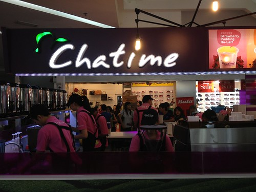 Chatime and taste better durian cream puff at citymall