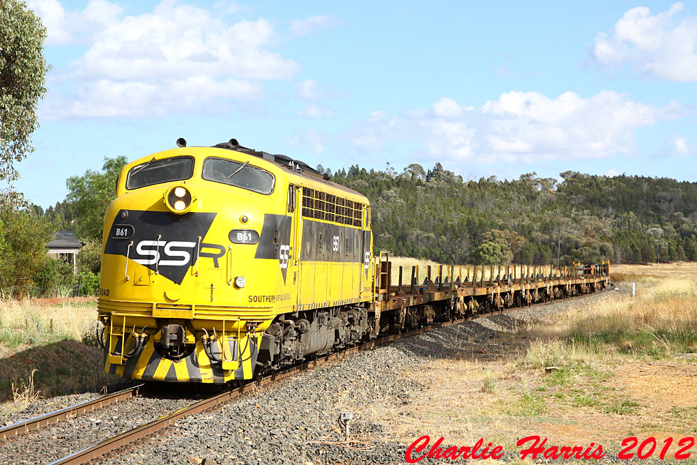 SSR B61 on 8840 Jeerabung sm on Tuesday 11-12-2012 by Charlie Harris