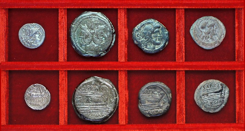 RRC 206 SAFRA denarius, bronzes, Ahala collection, coins of the Roman Republic