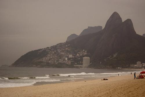 Dois Irmãos Mountains, Ipanema Beach, Rio de Janeiro, Brazil