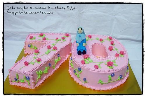 cake number 70 for Mak