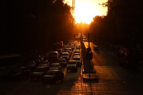 sunset mexico atardecer mexicocity df ciudaddemexico distritofederal paseodelareforma