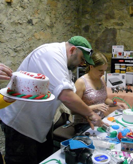 Chef Duff Goldman Easy Cake Tattoo Icing Decorating Chevron