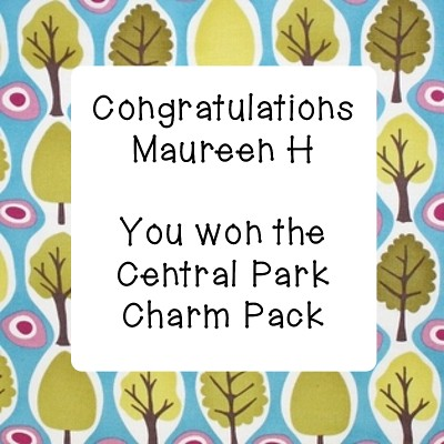 Winner of the Central Park Charm Pack