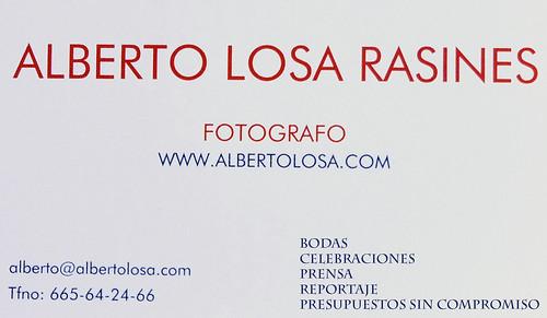 tarjeta alberto losa 9
