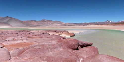 Le désert d'Atacama: Laguna Piedras Rojas