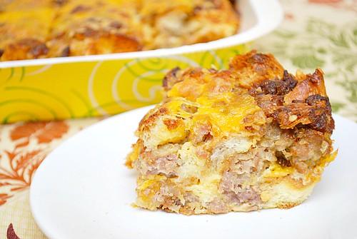 Maple Sausage Breakfast Strata