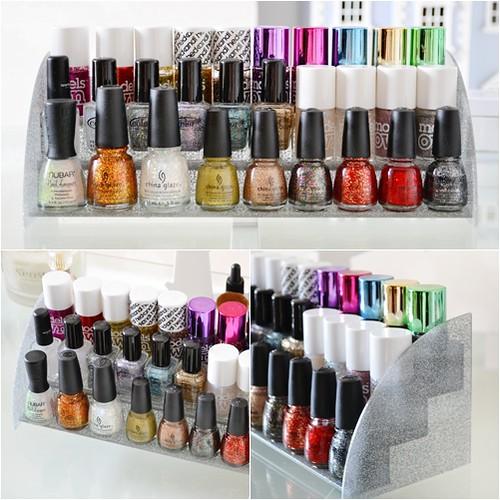 Glitter nail polish stand storage