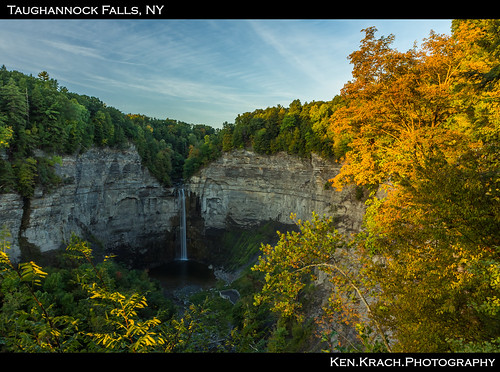 newyork water sunrise waterfall falls taughannockfalls