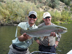Trinity River fly fishing guide with another happy guest