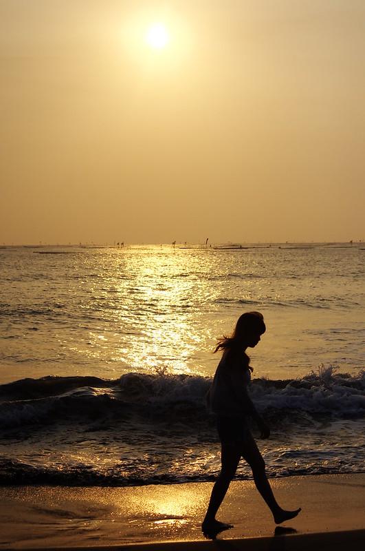 今日安平 夕陽