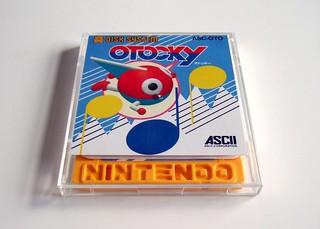 Otocky disk + case (Famicom Disk System)