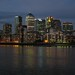 Darkness falls on Canary Wharf