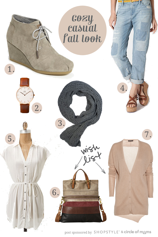 cozy casual fall look